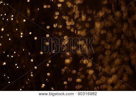 Yellow bokeh lights. Abstract background.