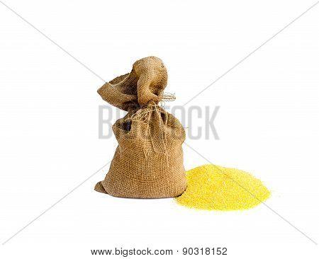 Sack With Corn Grain