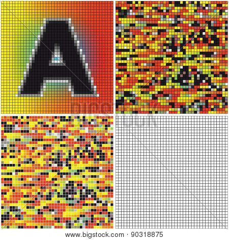 Letter A (mixed Mosaic)