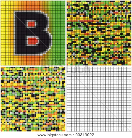 Letter B (mixed Mosaic)