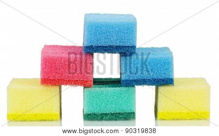 Cleaning sponges stack