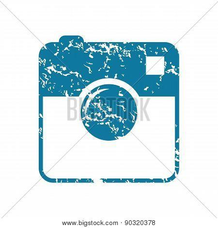 Grunge square camera icon