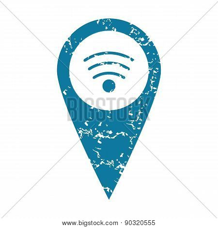 Grunge Wi-Fi pointer icon