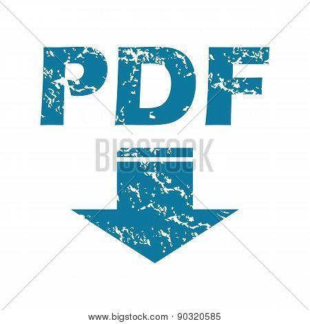Grunge pdf download icon