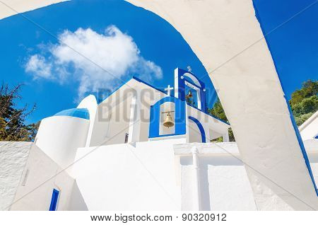 Greek church with blue and white colors, Greece