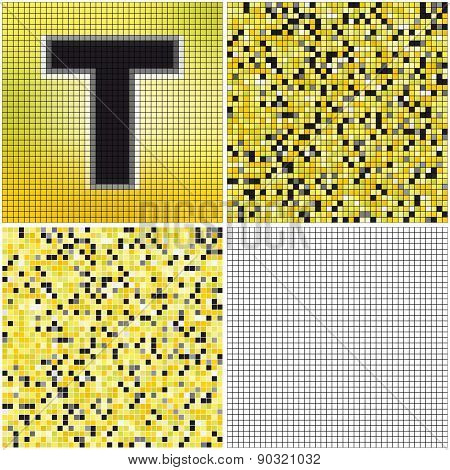 Letter T (mixed Mosaic)