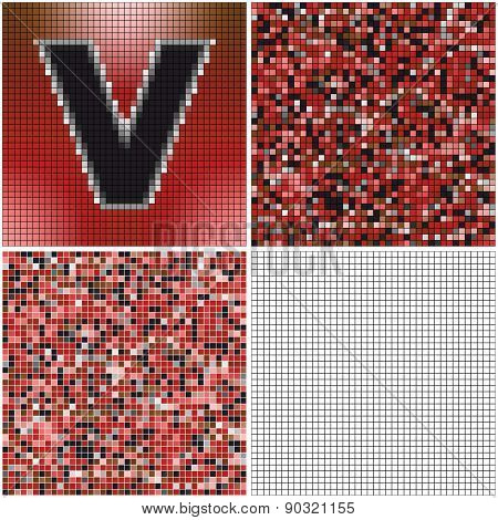 Letter V (mixed Mosaic)