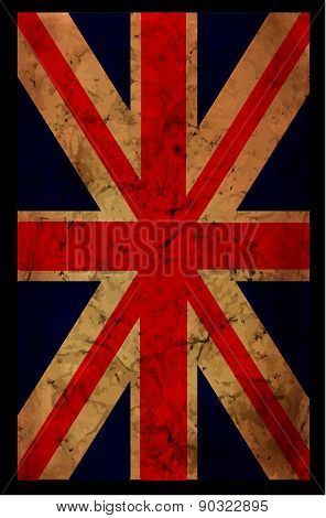 England Grunge Flag. An England Grunge Flag For A Background Of A Poster.