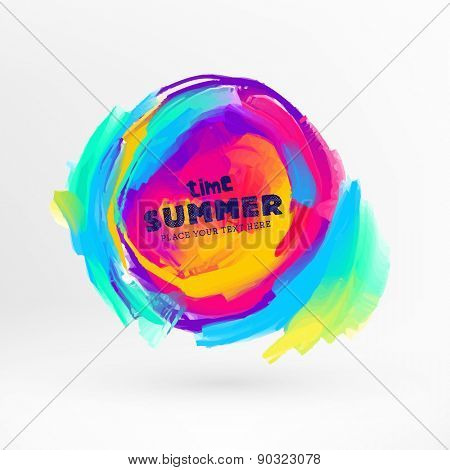 Bright Color Paint Stains for Summer Design