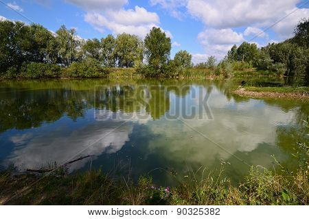 Calm Pond During Day