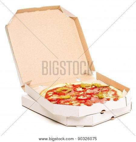 Open Box With Pizza.