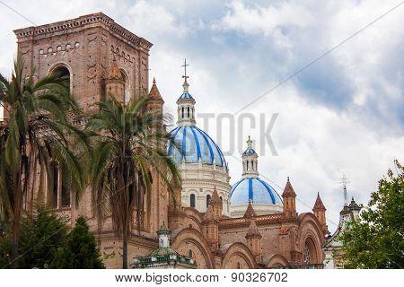 Cathedral Domes Old Cuenca Ecuador