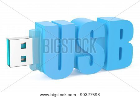 Light Blue Usb Flash Drive Ss 3.0