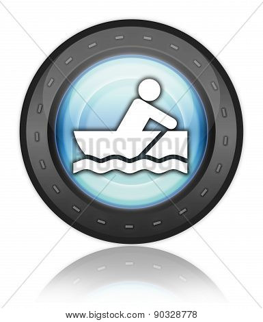Icon, Button, Pictogram Rowboating