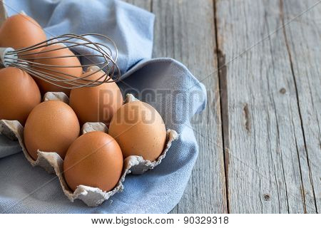 Chicken Eggs And A Whisk