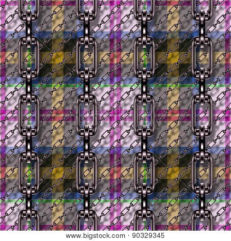 Iro Chains with Tartan Seamless Generated Texture