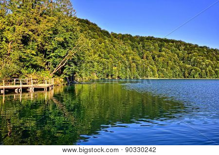 Lake with reflections, Plitvice National Park, Croatia