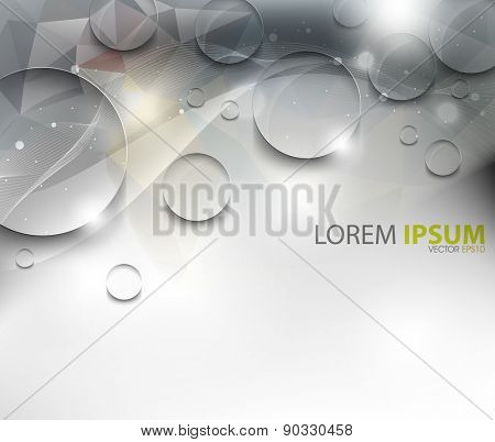 elegant dew wet water droplets on wave elegant glossy background eps10 vector