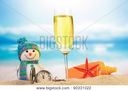 Cocktail and snowman