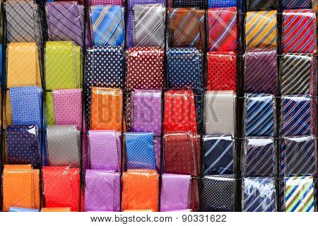 Coloured Neckties Background
