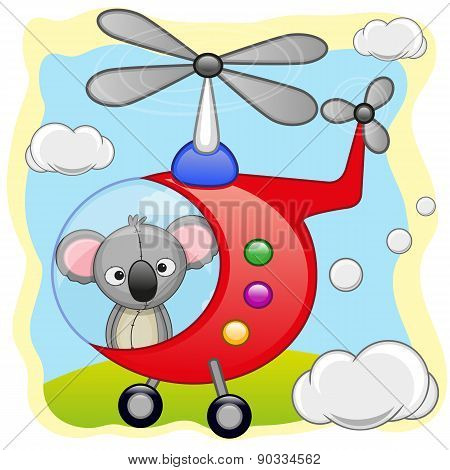 Koala In Helicopter