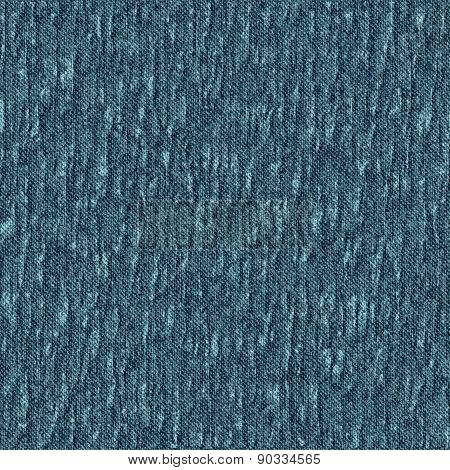 Seamless Pattern Crumpled Blue Denim.