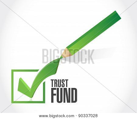 Trust Fund Approval Check Mark Sign Concept