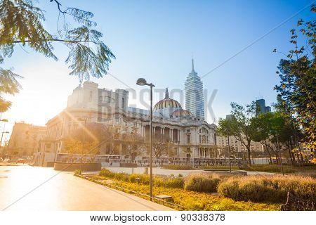 Alameda park, palace of fine arts latinoamericana
