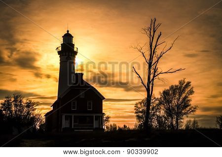 Au Sable Lighthouse Sunset