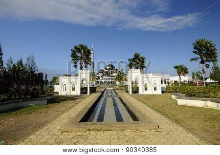The Crystal Mosque in Terengganu, Malaysia