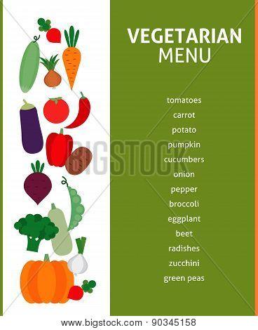 vegetarian menu. organic food