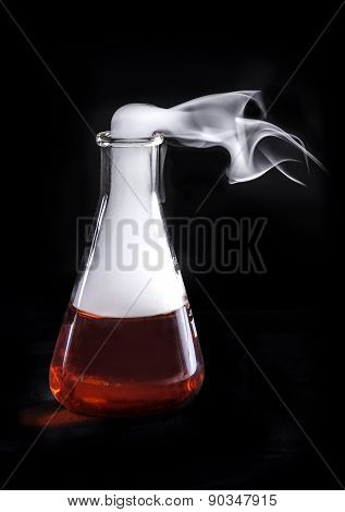 red flask and nitrogen