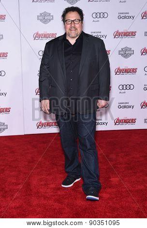 LOS ANGELES - APR 14:  Jon Favreau arrives to the Marvel's