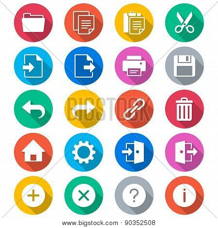 Application Toolbar Flat Color Icons