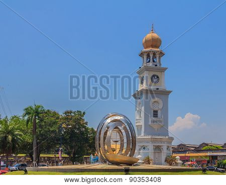 Clock Tower In Georgetown Penang