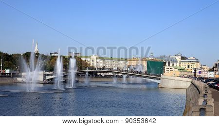 Fountain On River