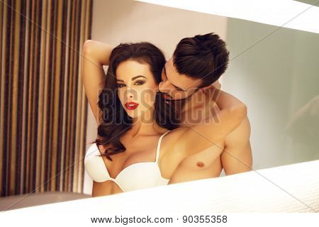 Sexy Couple In Mirror
