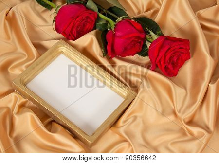 Photoframe with roses