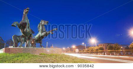 Three Horses Sculpture