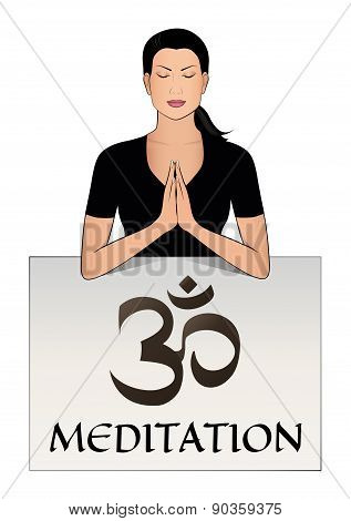 Meditation vector logo