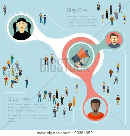 Human infographics. Vector template.