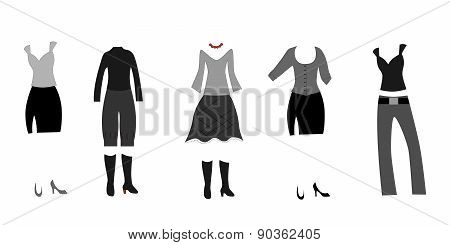 clothing black