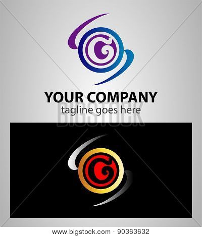 Letter G logo icon design template elements. Vector round sign