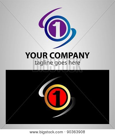Number one 1 logo icon template