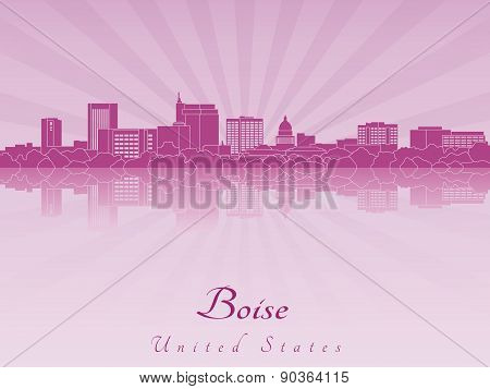 Boise Skyline In Purple Radiant Orchid