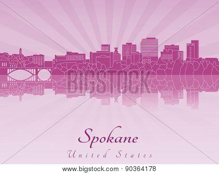 Spokane skyline in purple radiant orchid