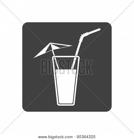 Cold Summer Cocktail. Drink Icon.Vector Illustration