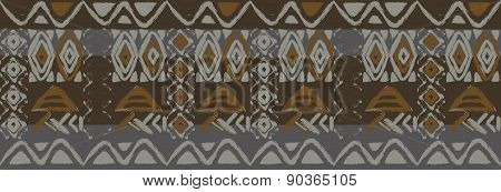 ethnic seamless pattern with american indian traditional ornament in black and white colors. Tribal