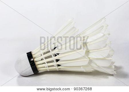 Badminton Shuttlecock On White