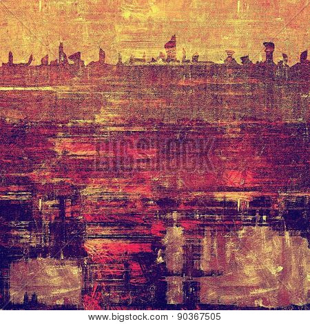 Background with grunge stains. With different color patterns: yellow (beige); brown; purple (violet); pink